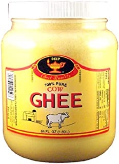 Deep Pure Cow Ghee Clarified Butter, 64 Ounce
