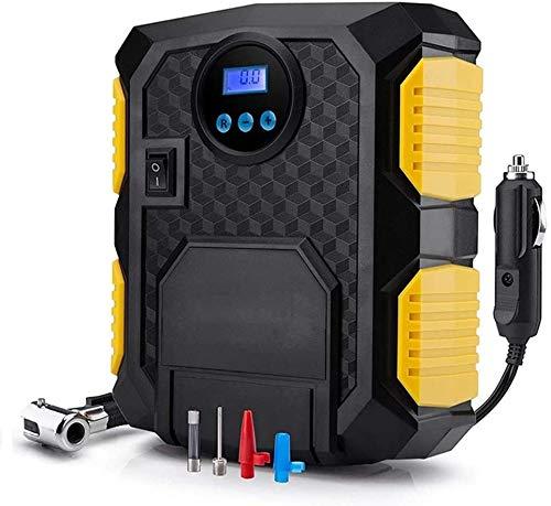 Inflador de neumáticos de neumático de mini coches, bomba de neumáticos de compresor de aire portátil, bomba de neumáticos de luz LED, portátil 12V DC Inflador de neumático digital bomba de aire 120W