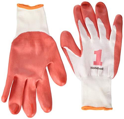 Honeywell Check and Go PU 1 Handschuhe, rot/weiß, Größe 11, 10 Stück
