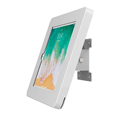 "Beelta iPad Wall Mount, Fits iPad 5th, iPad 6th, iPad Pro 9.7"", iPad Air 1/2, Key Lock Security, Metal, White, BSW101W"