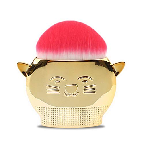 Greatwall Pinceau de Maquillage ISMINE Pinceau à Fard à Joues Lovely Cat Handle Foundation Powder Brush Gold