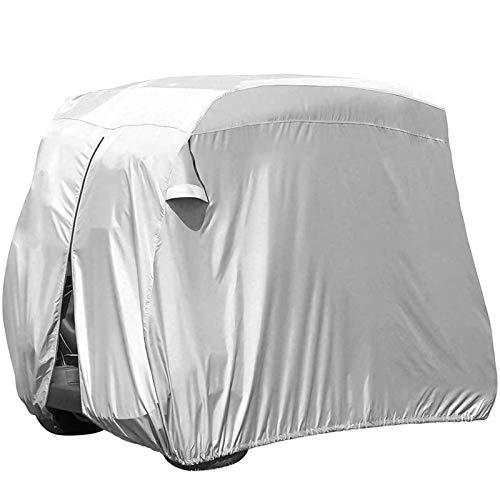 JLKDF Cubierta Impermeable para Carrito de Golf para Exteriores, Cubierta Protectora para carritos de Golf para Todo Tipo de Clima, para Autos de Club, carros de Golf, Cubierta de Autos