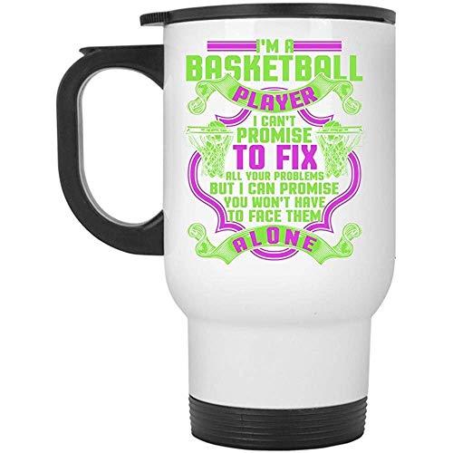 Zudrold spielen Basketball Travel Mug, ich bin ein Basketball-Spieler Mug (Travel Mug - weiß)