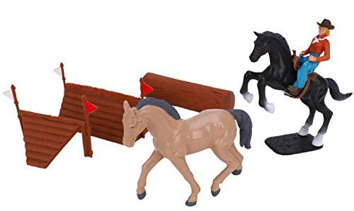 Toyland® Horse Toy Playset - 12 cm x 10 cm, Figur & Zubehör - 3 zur Auswahl (Cross Country Fences)