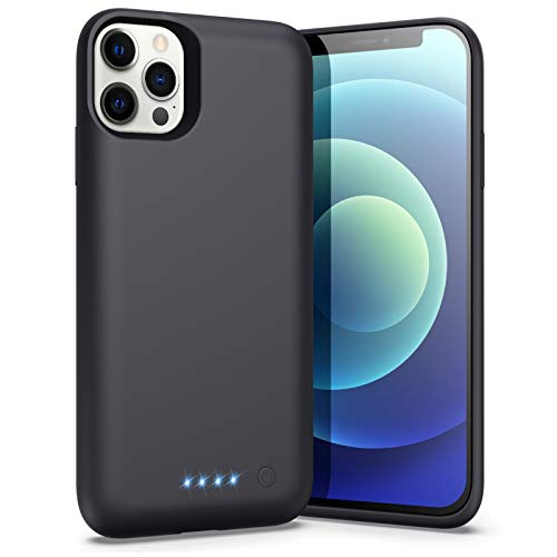 Battery Case for iPhone 12 & iPhone 12 Pro, [6800mAh] Portable Protective Charging Case Rechargeable Slim Charger Case Extended Battery Pack for Apple iPhone 12/12 Pro (6.1inch)