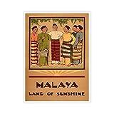 VinMea Unframed Decorative Art Printing Poster Malaya Land