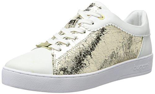 bugatti Damen J7608PR6N Sneakers, Weiß (Weiss/Gold 235), 39 EU