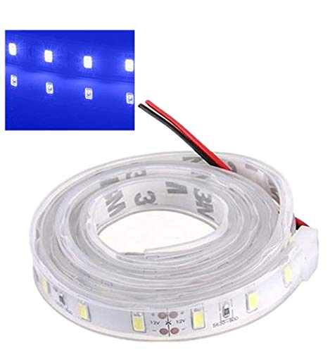 MASUNN 1 M 5630 SMD LED Tira De Silicona Luz Azul Impermeable 12V