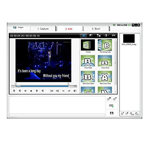 USB 2.0 Audio/Video Converter - Digitize and Edit Video from Any Analog Source Including VCR, VHS, DVD