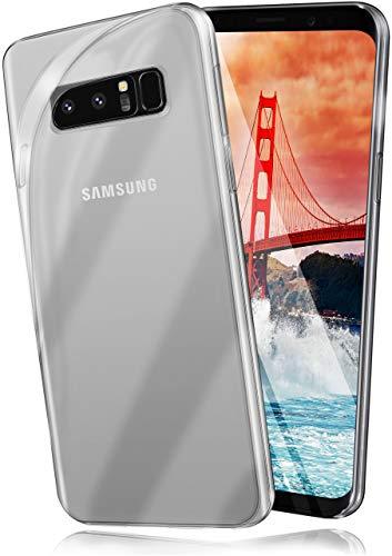 moex Aero Hülle für Samsung Galaxy Note8 - Hülle aus Silikon, komplett transparent, Handy Schutzhülle Ultra dünn, Handyhülle durchsichtig - Klar