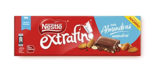 Nestlé Extrafino Chocolate con Leche y almendras 270g-pack 15