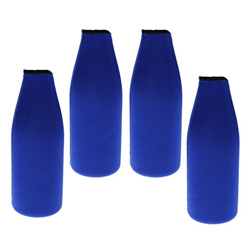 Baoblaze 4pcs Neopren Dosenkühler Flaschenkühler Bierkühler Getränke Kühler für Camping Picknick und Reisen