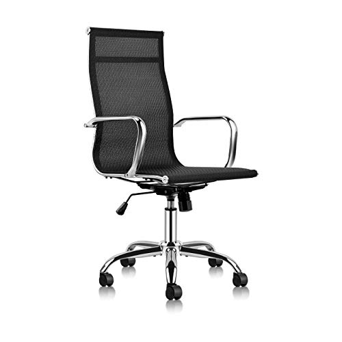 Mastery Mart High Back Office Chair, Mesh Fabric Task Chair, Swivel Chair, Mid Century Desk Chair with Armrests for Executive, Conference Room, Home Office