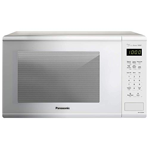 Panasonic NN-SU656W Countertop Microwave Oven with Genius Cooking Sensor and Popcorn Button, 1.3 cu. ft., 1100W, White (Renewed)