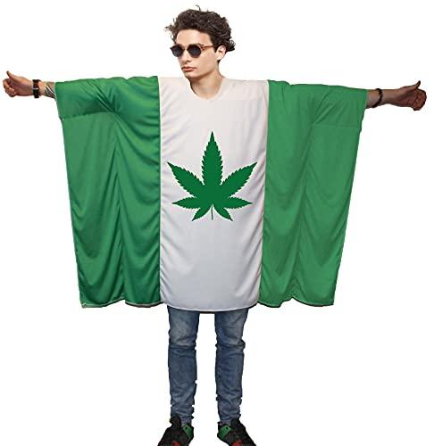 Disfraz de poncho de bandera nacional patritica de los deportes [Ganja]