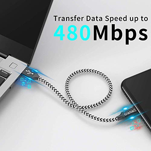 Micro USB Kabel,5 Pack[0.25M 0.5M 1M 2M 3M] Nylon Micro USB Ladekabel Schnellladekabel High Speed Handy Datenkabel für Samsung Galaxy S7/ S6/ J7/ Note 5,Xiaomi,Huawei, Motorola