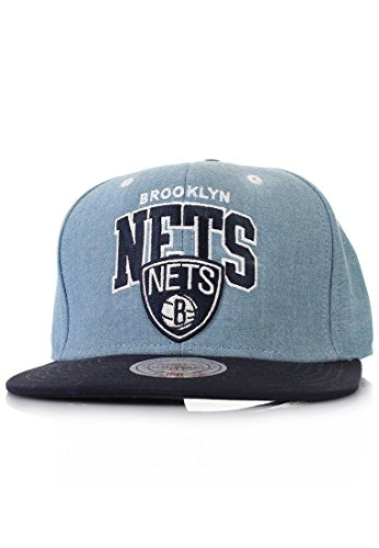 Mitchell And Ness - Casquette Snapback Homme Brooklyn Nets Chambray Arch - Blue