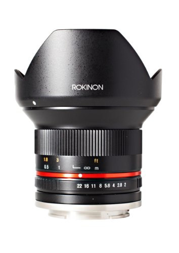Rokinon RK12M-M 12mm F2.0 NCS CS Ultra Wide Angle Fixed Lens for Canon EF-M Mount Compact...