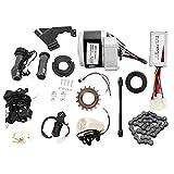 Kit de conversión de bicicleta eléctrica Controlador de motor, Kit de motor sin escobillas, Kit de conversión de piezas de bricolaje para motocicleta, Controlador y acelerador, Material de aleación