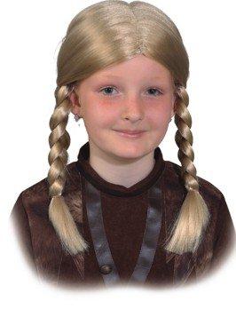 Orlob Kinder Perücke Wikinger Mädchen zu Gretel Kostüm Karneval Fasching