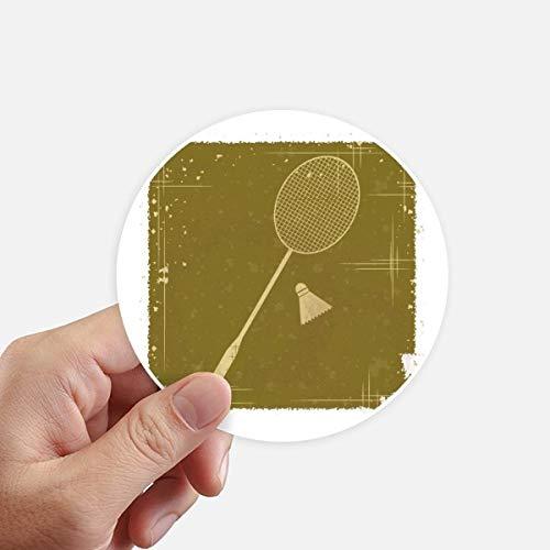 DIYthinker Sport Badminton Illustration Muster Runde Sticker 10Cm Wand Koffer Laptop Motobike Aufkleber 8Pcs Diameter 10cm Mehrfarbig