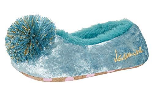 Disney Chaussons de danse Aladdin en polaire pour fille Motif princesse Jasmine - - bleu, 24 EU