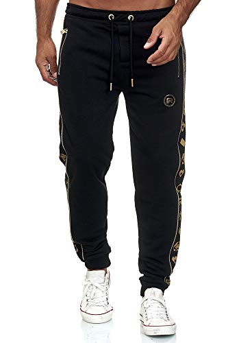 Redbridge Herren Jogginghose Jogger Hose Sweat-Pants R-Logo Premium Schwarz M