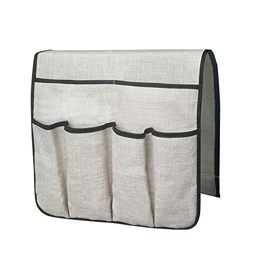 #N/D Organizador de sofá grande con soporte de control remoto para TV, funda de almacenamiento antideslizante con 6 bolsillos bolsa de almacenamiento