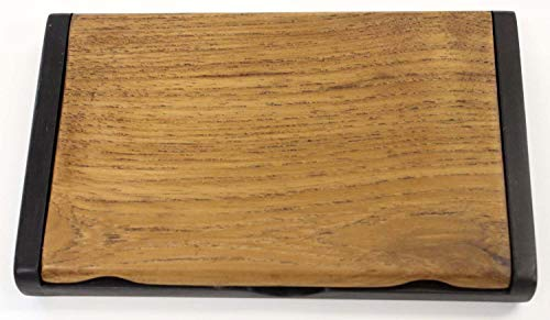 【 名入れ 】 天然木 コクタン チーク 名刺 カード ケース