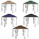 freigarten.de Ersatzdach für Pavillon Ø 350 [cm] Wasserdicht Material: Panama PCV Soft 370g/m² extra stark Modell 4