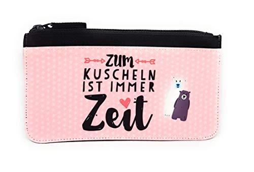 """Mäppchen """"Zum Kuscheln ist immer Zeit"""", mit Namen personalisisert, Schlampermäppchen mit Namen individuell bedruckt. Geburtstagsgeschenk."""