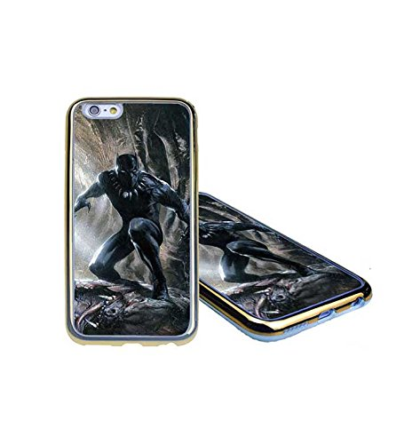 CooJedy IPhone 6 6s - Marvel DC Comics Black Panther Soft Funda Case Cover for Apple IPhone 6 6s Protective Back Funda Case for Men