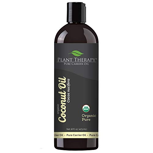 Plant Therapy Essential Oil | Organic Fractionated Coconut Oil for Skin, Hair, Body | 100% Pure | 16 oz, Pump Included