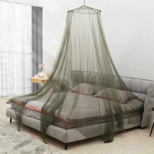 Aerb Moskitonetz Bett, Groß Mückennetz inkl. Montagematerial, Betthimmel, Mückenschutz, MoskitoschutzF, Fliegennetz auch auf der Reise (Grün)