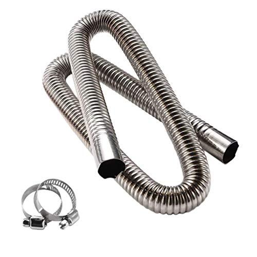 KingFurt Für Air Heater Diesel Standheizung Abgasrohr Edelstahl Abgasschlauch 120cm Φ25mm