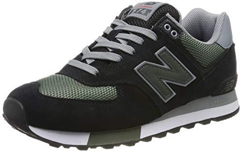 New Balance 574v2 Sneaker Uomo, Nero (Black/Green), 42 EU (8 UK)