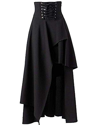 SaiDeng para Mujer Lolita Gótico del Vendaje De La Falda Maxi
