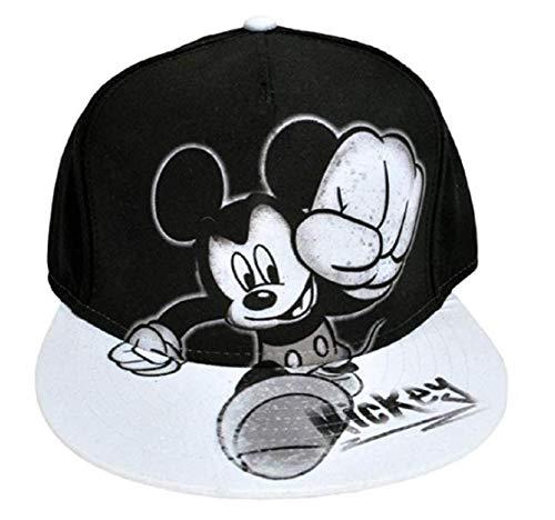 Disney Youth Mickey Mouse Smash Flat Bill Baseball Hat Black/White