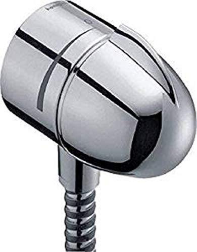 hansgrohe Fixfit E Schaluchanschluss, mit Rückflussverhinderer und Absperrventil, Chrom