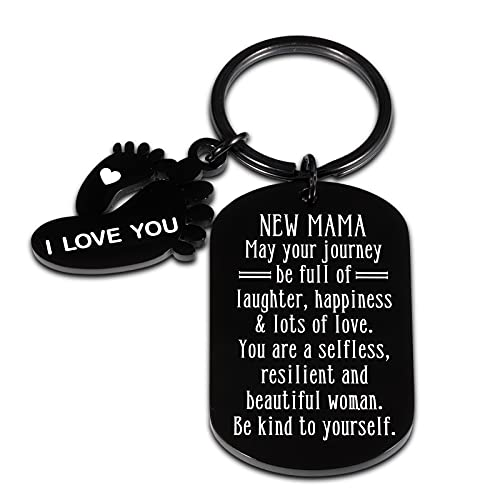 New Mom Keychain Pregnant Mom Gifts for First Time Mom to be New Mama...