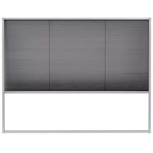 Binzhoueushopping vliegengaas, plissé voor ramen, van aluminium, 130 x 100 cm, vliegengaas, raam