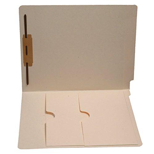 11PT 마닐라 폴더 풀 컷 엔드 탭 레터 사이즈 전면 내부 더블 포켓 패스너 POS 1(50 상자)