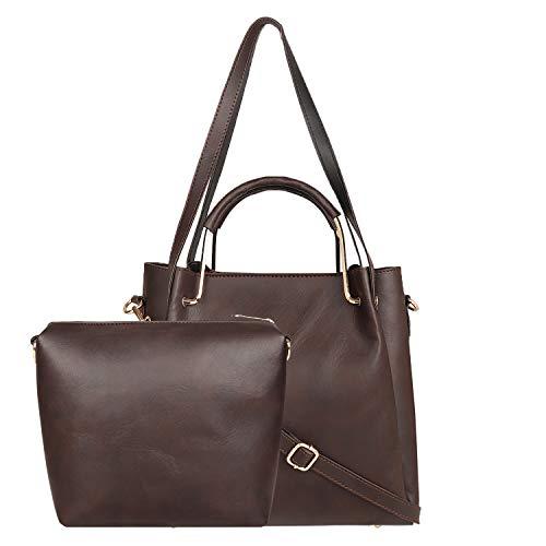 Don Cavalli Women's PU Leather Handbag (Dark Brown)