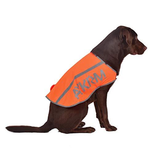 AYKRM Huisdier Hond Hi Viz Fluorescerende Hoge Zichtbaarheid Veiligheid Vest Jas hond jassen, 3XL, ORANJE