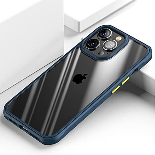 SYUGJDZ Funda para iPhone 13/13 Pro/13 Pro Max/13 Mini, Ultrafina Transparente Case, A Prueba De Golpes/Anti-Arañazos Carcasa, D-3,Blue,iPhone 13 Pro MAX