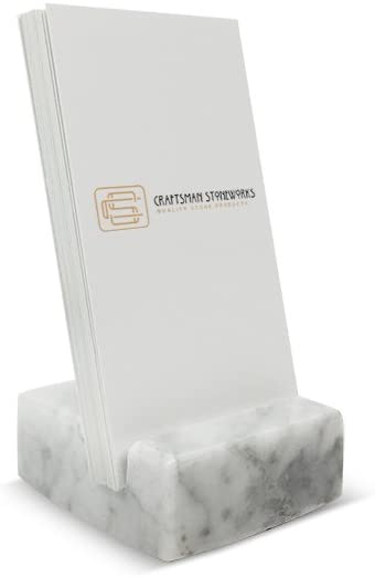 Vertical Business Card Max 60% OFF Holder White Marble Max 61% OFF Carrara
