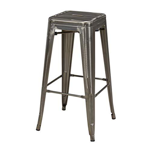 Eisen Barhocker Metall Farbauswahl Barstuhl Robust Und Zeitlos ++Industry Design++ Duhome 665D, Farbe:Metallic, Material:Metall