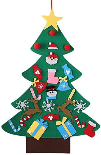 Christmas Tree Xmas Tree DIY Felt Christmas Tree With Light New Year Gifts Kids Toys Artificial Tree Wall Hanging Ornaments Christmas Decoration -30pcs fangkai77 (Color : 26pcs)