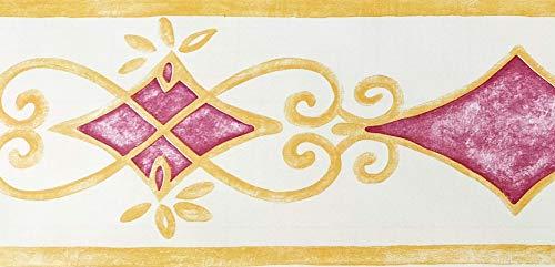 Dundee Deco MGAZBD2064 Tapeten Bordüre, zum Abziehen und Aufkleben, selbstklebend, Tapetenbordüre 10 m x 10 cm