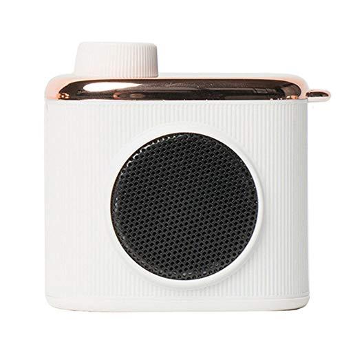 Bluetooth-Mini-Lautsprecher, Subwoofer Mini-Lautsprecher EIN-Knopf-Bedienung Rotary Button Switch Einfach Zu Bedienen Außen Startseite Tragbare Mini-Lautsprecher,Weiß